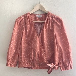 Madewell | Star Scatter Wrap Top in Coral